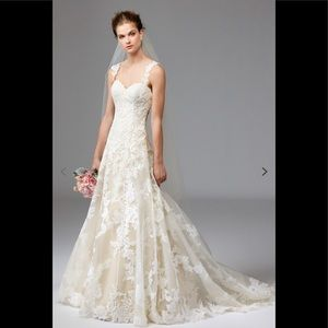Watters aven lace wedding gown